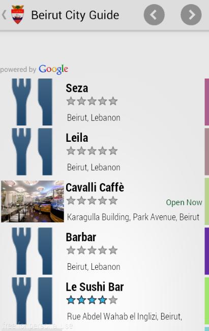 Скриншот Beirut City Guide