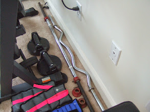 Photo: Ankle weights, straight bar, curl bar