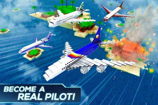 Mine Passengers: Plane Simulator - Aircraft Game 3.4.3 screenshots 1