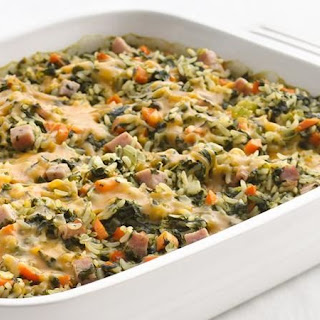Healthified Spinach and Rice Casserole.