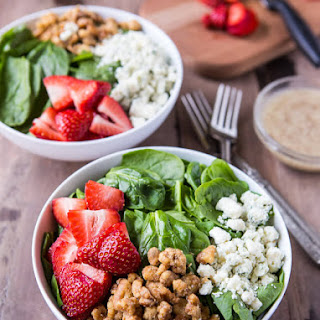 Strawberry Spinach Salad with Poppy Seed Dressing.