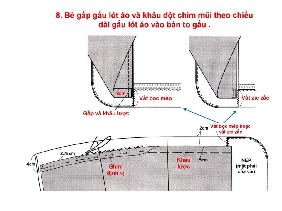 Bảng Size Thông Số Chuẩn Áo VEST NAM-NỮ Và Hướng Dẫn Cách Ráp Áo VEST 36