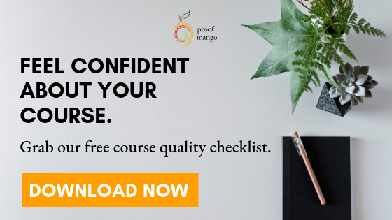 Click to download the free online course quality checklist.