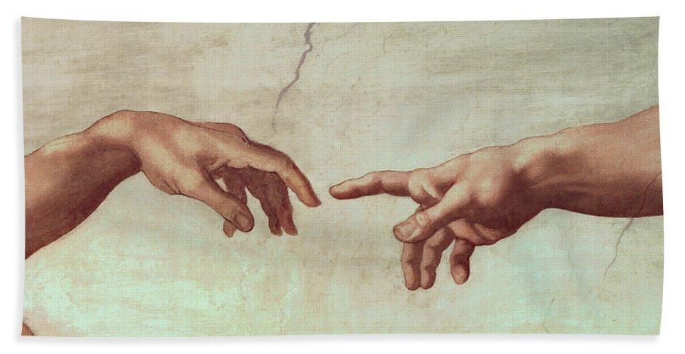 Image result for creation of adam hands michelangelo