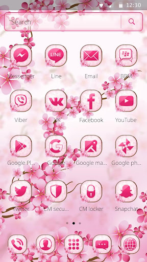Cherry Blossom Launcher Theme 1.1.2 screenshots 5