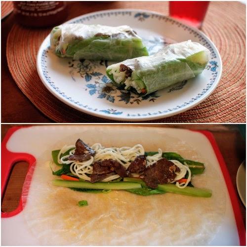 lemongrass beef salad roll