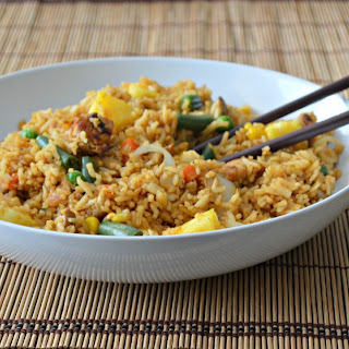 Easy One-Pan Chicken Fried Rice.