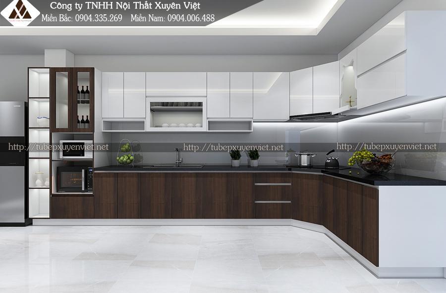 Các mẫu tủ bếp tân cổ điển đẹp được ưa chuộng