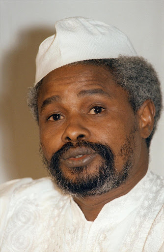 A picture dated 18 January 1987 of Chad 's exiled former president  Hissene Habre  taken in N'Djamena.  Hissene Habre  was charged late 03 February 2000 in Dakar with 'complicity in acts of torture' following complaints filed against him last week by several human rights organisations, Habre's lawyer said.