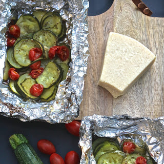 Grilled Zucchini Tomato Parmesan