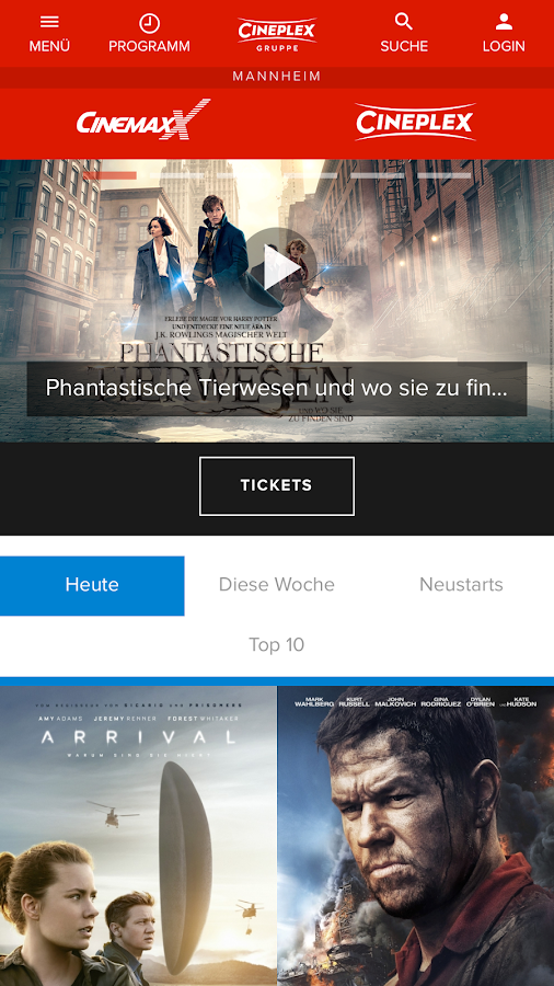CINEPLEX Kinoprogramm- screenshot