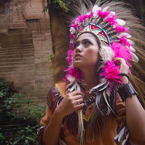 I'm Lost by Alfon Adalah Klepon - People Portraits of Women ( american, indian, pink, conceptual, women )