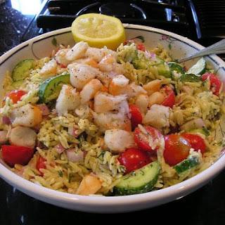 Summer Orzo and Shrimp Salad