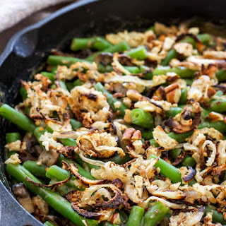 Green Bean Casserole with Crispy Shallot Pecan Topping