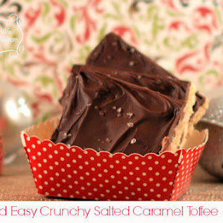 Salted Caramel Crunchy Toffee Squares (Nut Free)