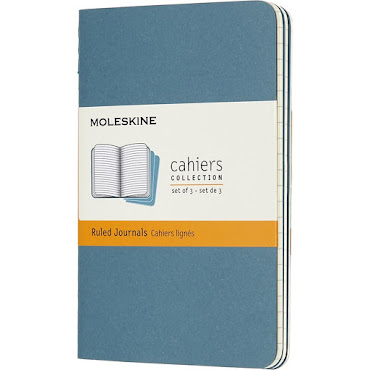 3 x Cahier Journal Large Brisk Blue