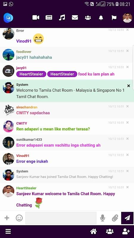 unduh Tamila Chat Room - Malaysia & Singapore Tamil Chat apk