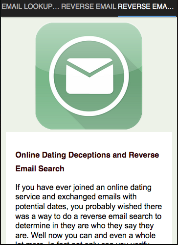 Dating site email lookup