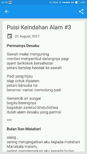 Download Puisi Keindahan Alam Semesta Google Play Softwares