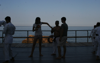 Вечерняя тренировка • Бухта Ласпи. Южный берег Крыма | Voronovcamp 2012