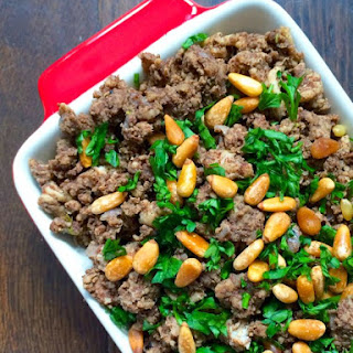 Lebanese Hushwee - Meat with Cinnamon and Toasted Pine Nuts