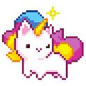 pixel art book - happy color icon