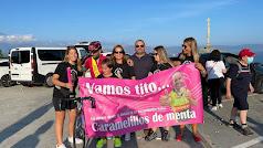 Celebración de la llegada de los deportistas a Finisterre.
