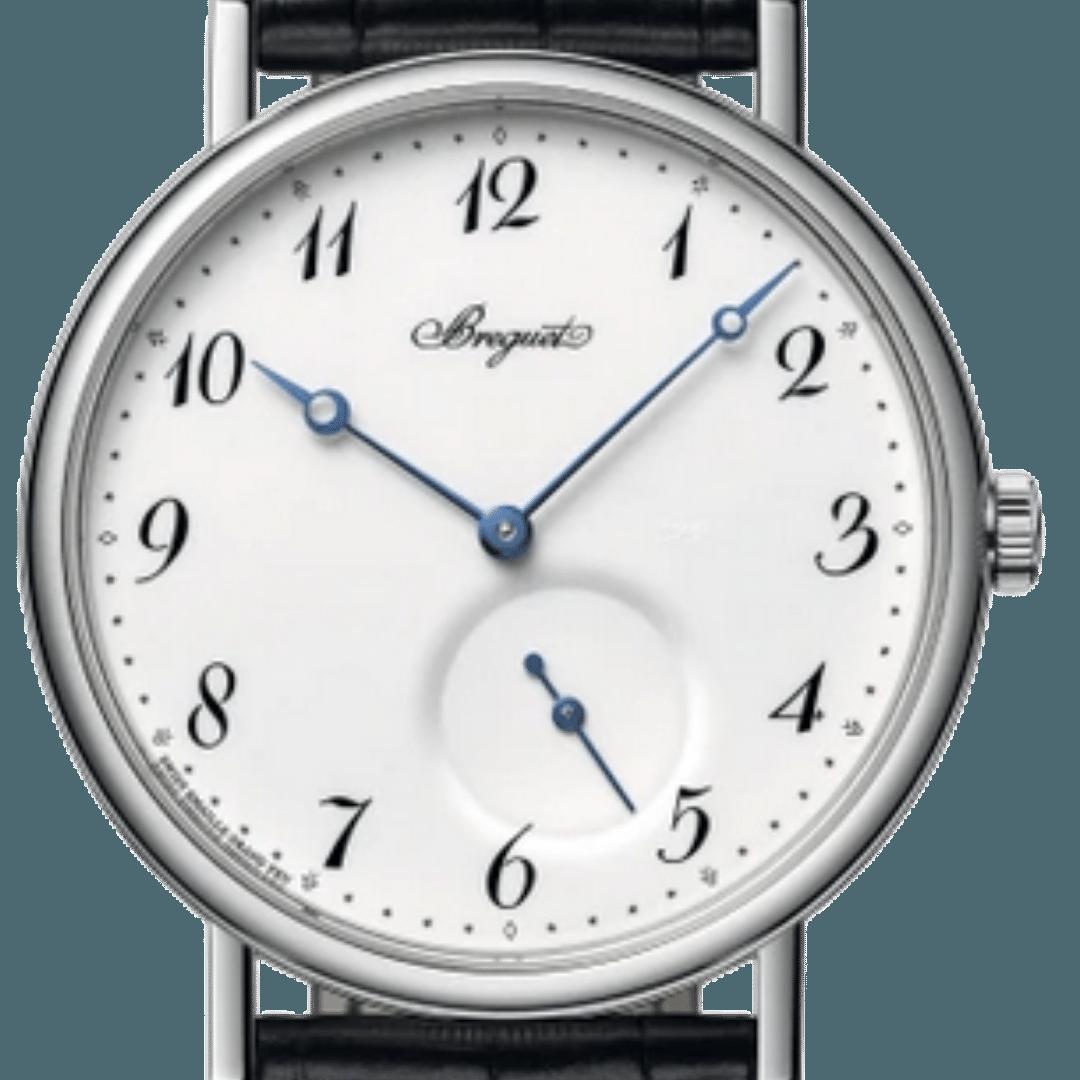 Breguet watch featuring Breguet numerals watch indices
