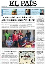 Photo: La austeridad como única salida a la crisis rompe el eje París-Berlín, Rajoy llama al orden a la cúpula policial y del CNI por sus disputas ante el fin de ETA y el derecho al aborto viaja al pasado, en nuestra portada del domingo 5 de mayohttp://srv00.epimg.net/pdf/elpais/1aPagina/2013/05/ep-20130505.pdf