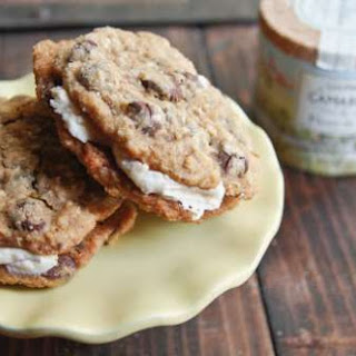 Oatmeal Chocolate Chip Pies with Salted Caramel Buttercream