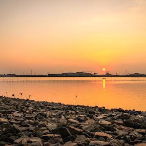 Sun down by Muhammad Ikhsan - Landscapes Sunsets & Sunrises ( orange, sky, sunset, landscape )