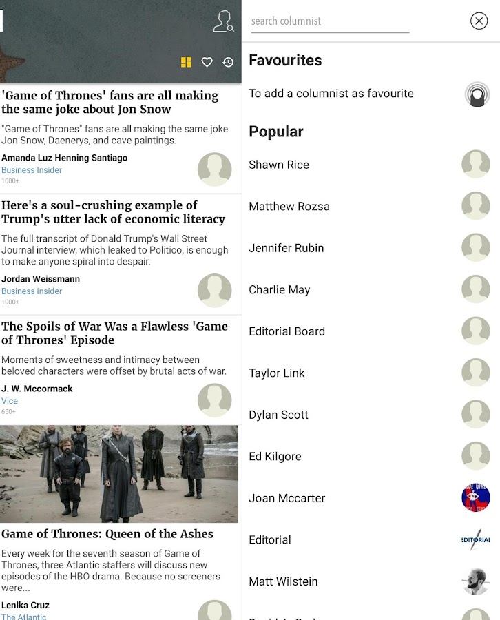 Opinions, Columnists, Articles and News- screenshot