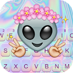 Cute Alien Keyboard Theme Icon