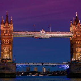 Tower Bridge, London by Terry Scussel - Buildings & Architecture Bridges & Suspended Structures ( pwcbridges )