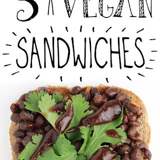 BBQ Black Bean Sandwich.