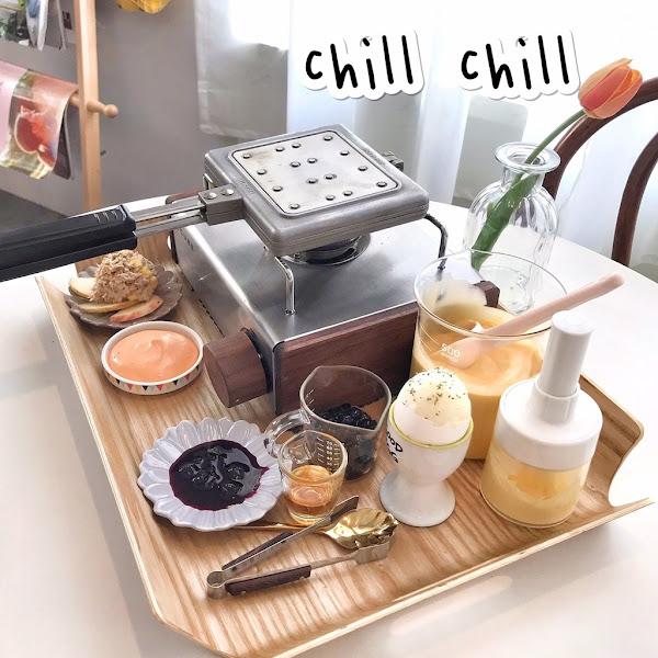 Chill Chill cafe & food | 韓系超萝幻早午餐 DIY手作鬆餅好好玩 | 台中夯到翻美食