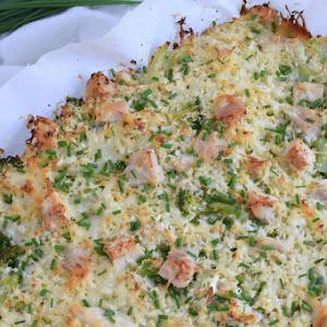 Broccoli & Cauliflower Rice Chicken Casserole