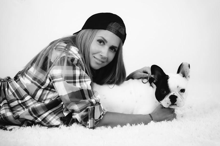 Franco & Did by Lazarina Karaivanova - Black & White Portraits & People ( girl, dog )