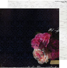 Heidi Swapp Hawthorne Double-Sided Cardstock 12X12 - Midnight UTGÅENDE