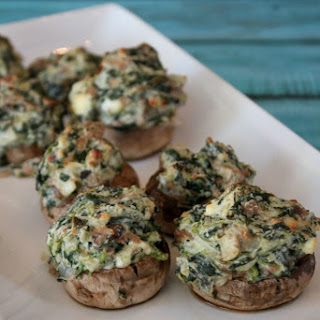 Spinach and Feta Cheese Stuffed Mushrooms