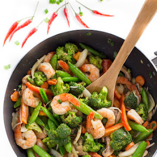 Chilli Coconut Shrimp Stir Fry