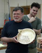 "Photo: Richard Webster - 12"" half-and-half quilted-maple bowl."