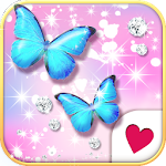 Cutewallpaper★Jewel Butterfly