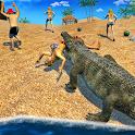 Ataque salvaje cocodrilo Beach icon