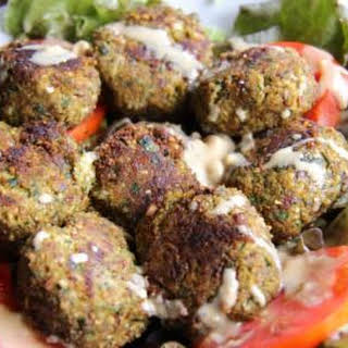 Almond Meal Pulp and Zucchini Falafels.