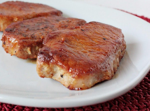 Place porkchops in 350 oven pour balsamic reduction over pork chops cover with foil...