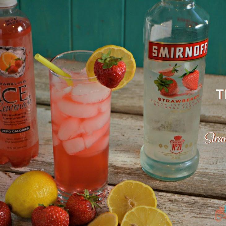 The Best Sparkling Vodka Strawberry Lemonade