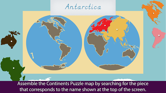 Montessori Continents Oceans Android Apps On Google Play - Name of continents