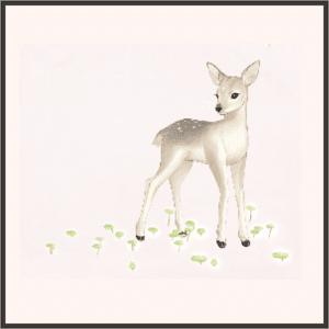 葉を食む小鹿