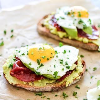Breakfast Toast with Fava Bean Spread and Crispy Capicola